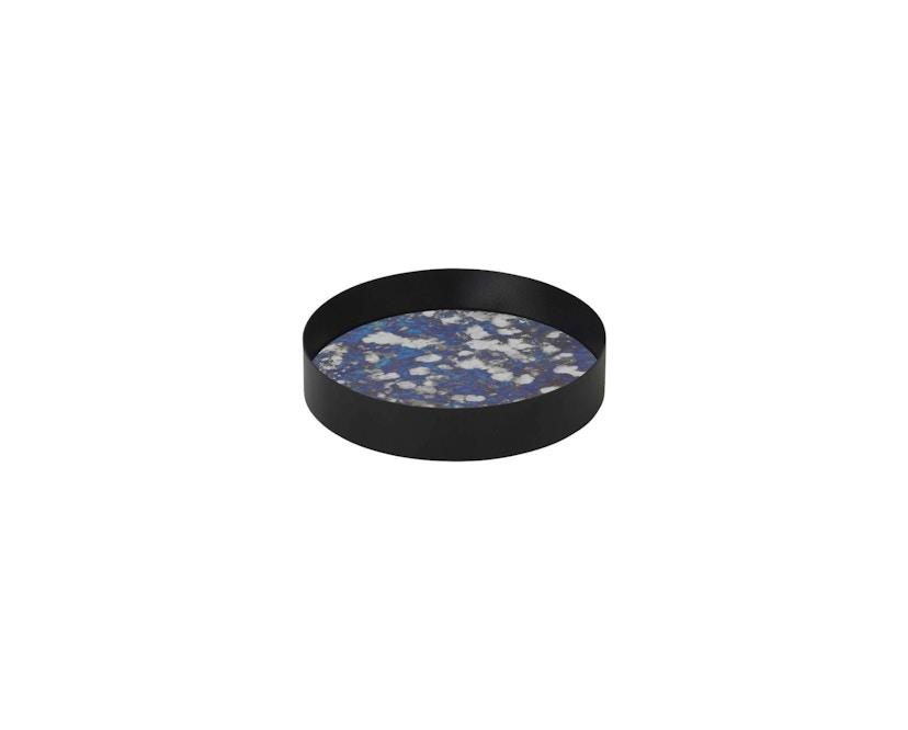ferm LIVING - Coupled Tablett rund - S - blau - 1