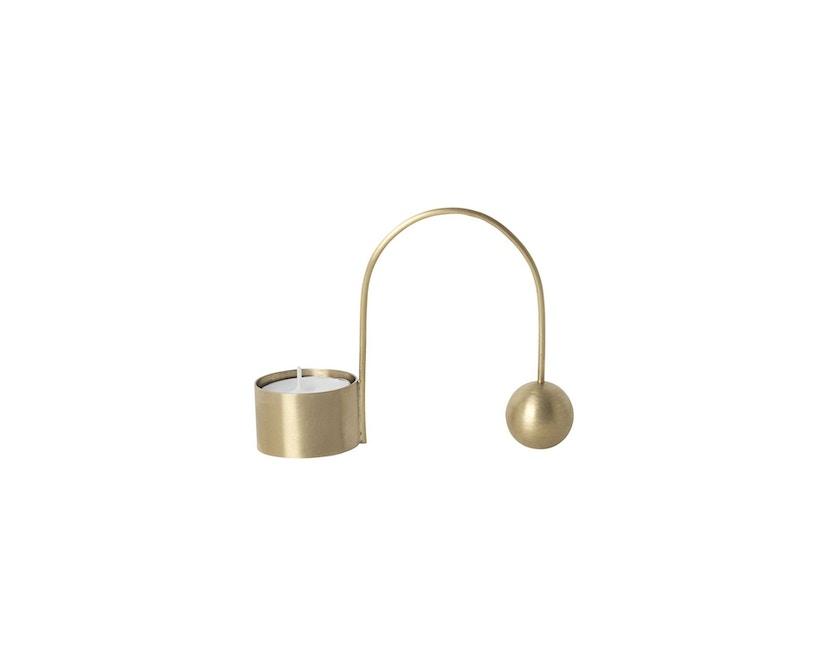 ferm LIVING - Balance Teelichthalter - Messing - 1