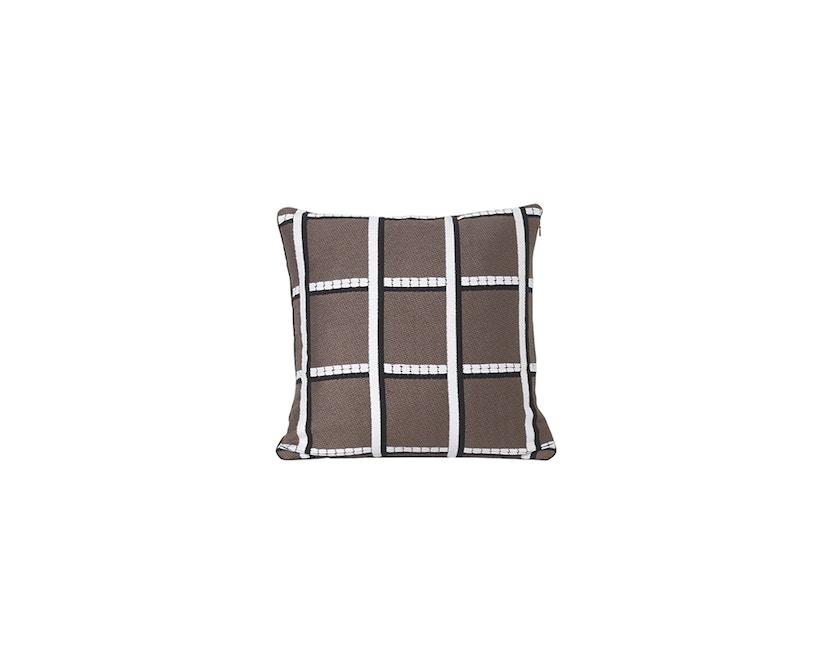 ferm LIVING - Salon kussen 40 x 40  - taupe geruit - 1
