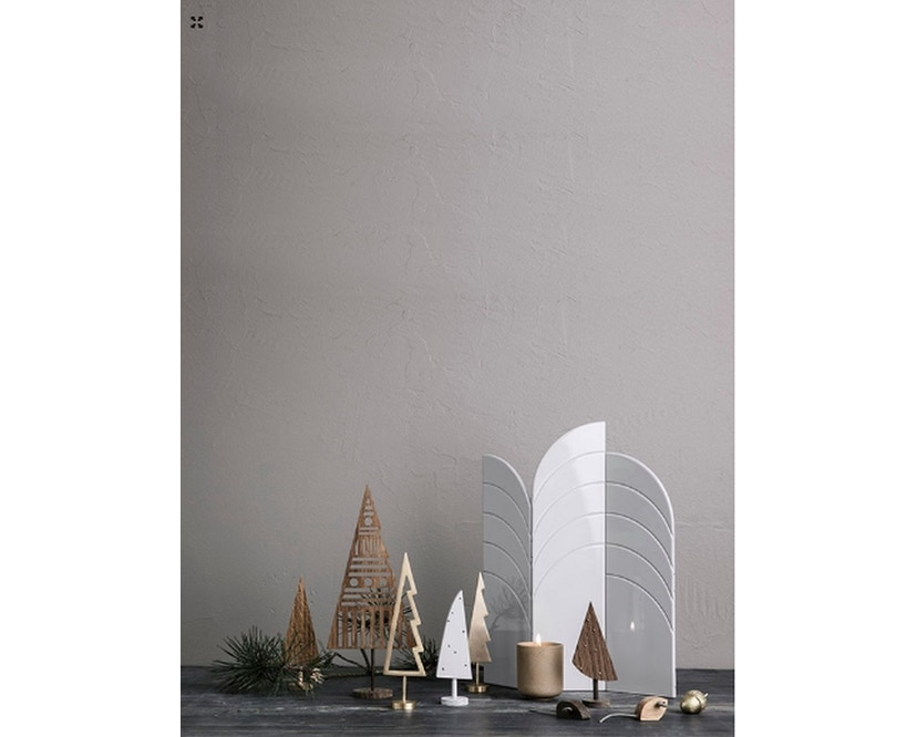 ferm LIVING - Winterland Messingbaum massiv schwarz - 5
