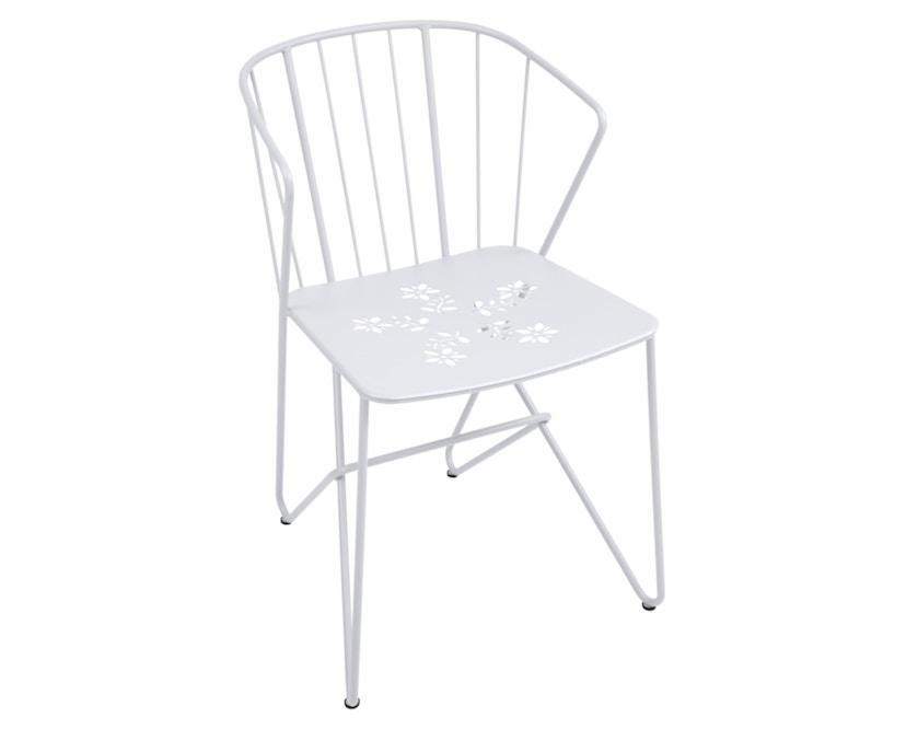 Fermob - Flower Stuhl perforiert - 01 Baumwollweiss  - 1