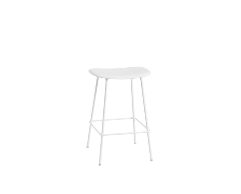 Muuto - Fiber Barhocker - Rohrgestell Shell - Natural White/White - 2