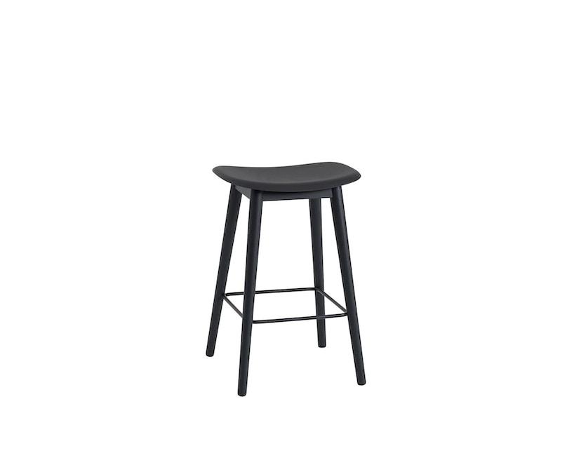Muuto - Fiber Barhocker - Holzgestell Shell - Black/Black - 1