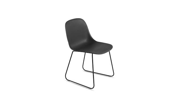 Muuto - Fiber Side Stuhl - Kufengestell - schwarz - 3