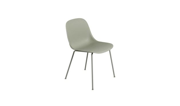 Muuto - Fiber Side Stuhl - Rohrgestell Shell - nebelgrün - 1