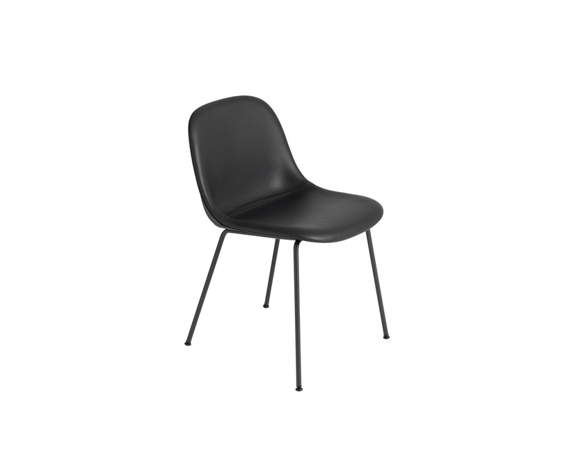 Fiber Side Stuhl - Rohrgestell Shell - schwarz - 1
