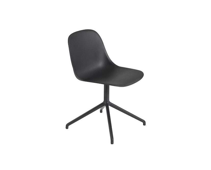 Muuto - Fiber Side Stuhl - Drehfuß Shell - Black/Black - 1