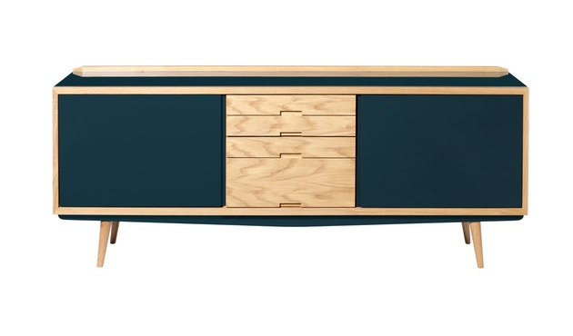 red edition - Fifties Sideboard - Peacock Blue L07 - 1
