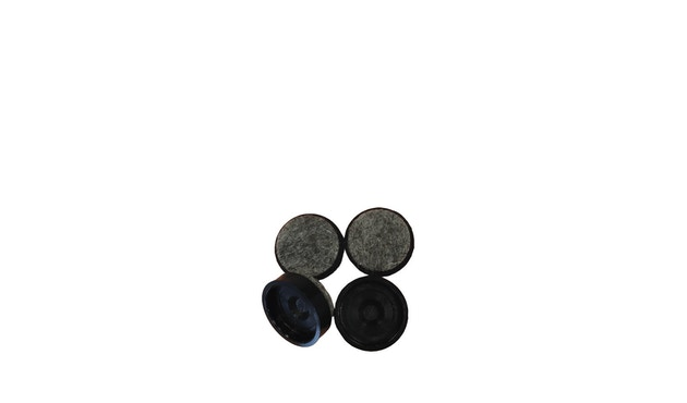 HAY - Viltglijders voor AAC - 4 stuks zwart - 2