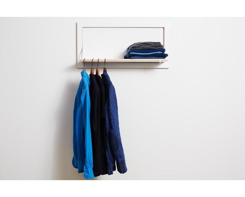 Ambivalenz - Fläpps Kleiderstange Hängrail - weiß - 5