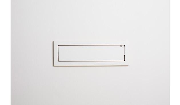 Ambivalenz - Fläpps Regal - 80x27x1 - weiß - 1