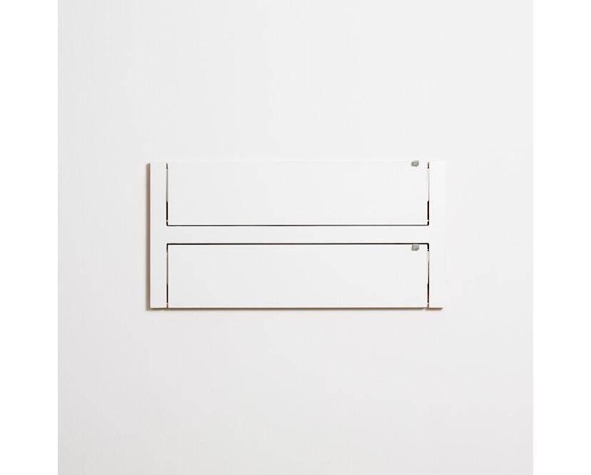 Ambivalenz - Fläpps Regal - 80x40x2 - weiß - 1
