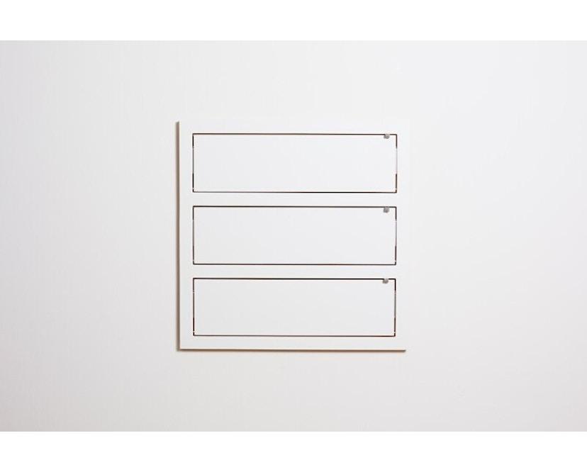 Ambivalenz - Fläpps Regal - 80x80x3 - weiß - 1