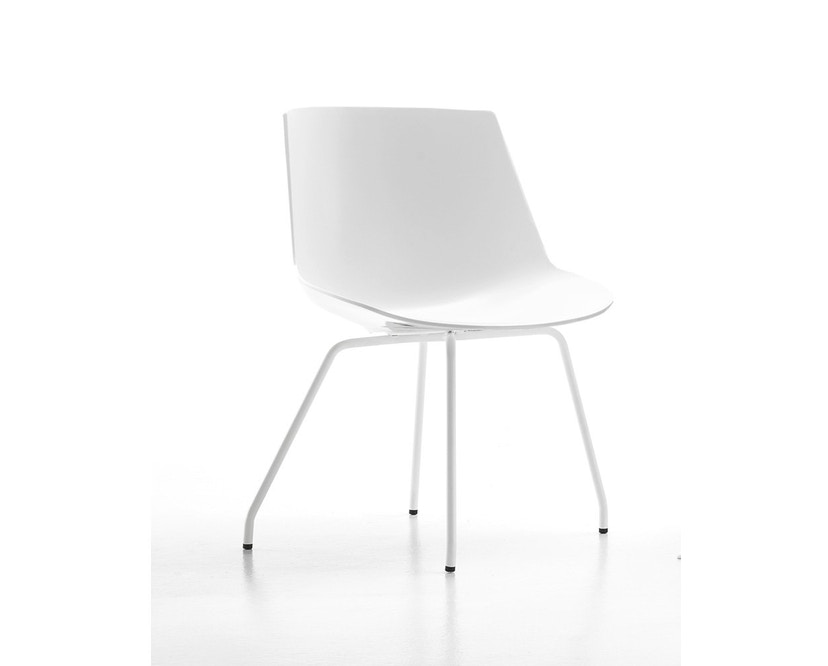 MDF Italia - Flow Stuhl 4 Fußgestell - weiß - Gestell weiß - 1