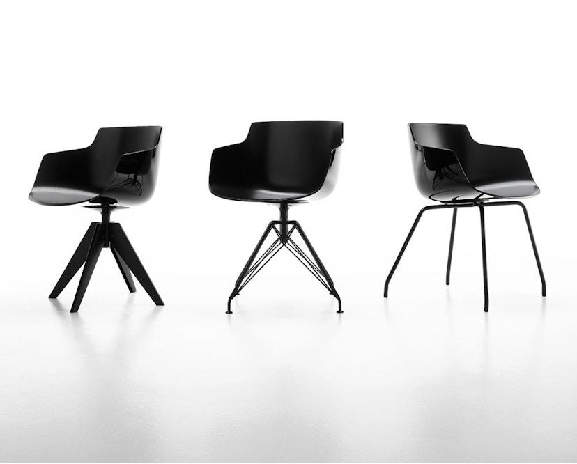 MDF Italia - Flow Stuhl 4 Fußgestell - weiß - Gestell weiß - 3