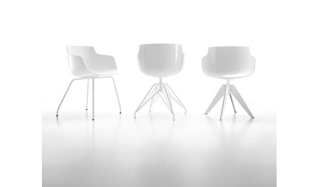 MDF Italia - Flow Stuhl 4 Fußgestell - weiß - Gestell weiß - 4