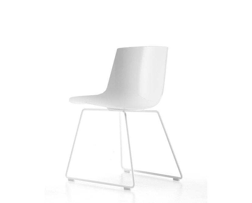 MDF Italia - Flow Stuhl Kufengestell - weiß - Gestell weiß - 2
