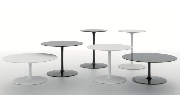 MDF Italia - Flow Low tafel - Ø 44 cm, hoog - mat wit - 3