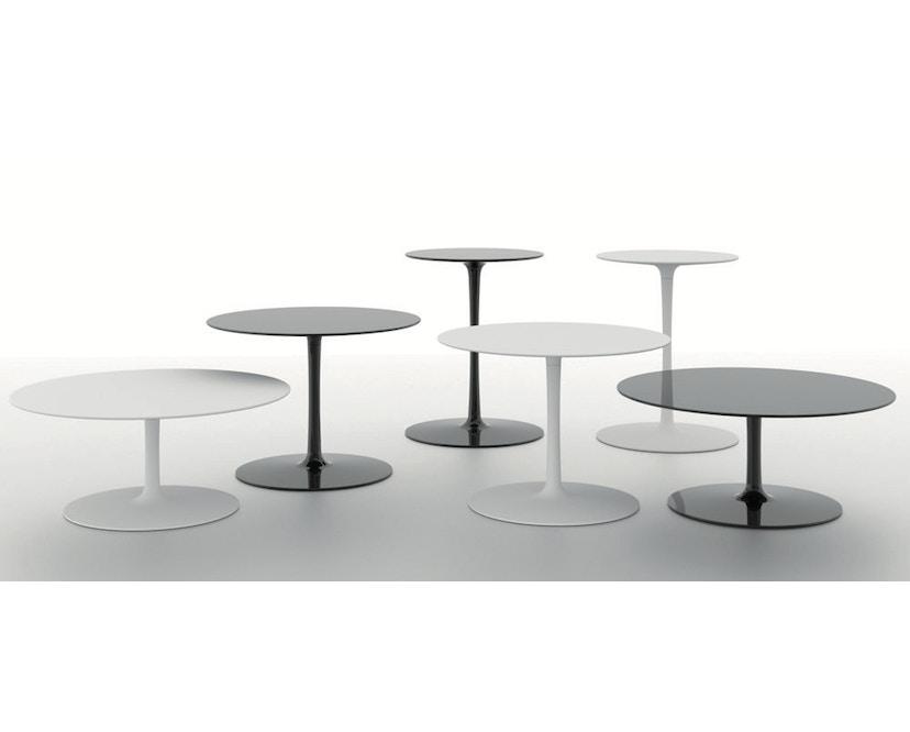 MDF Italia - Flow Low Tisch - cristal plant weiß - Ø 44 cm, hoch - 3