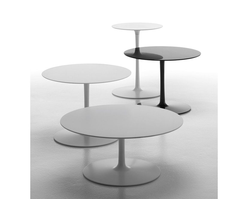 MDF Italia - Flow Low tafel - Ø 44 cm, hoog - mat wit - 4