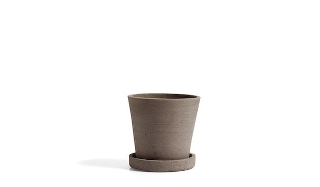 HAY - Blumentopf mit Untersetzer - grau - XL - terracotta - S - 1