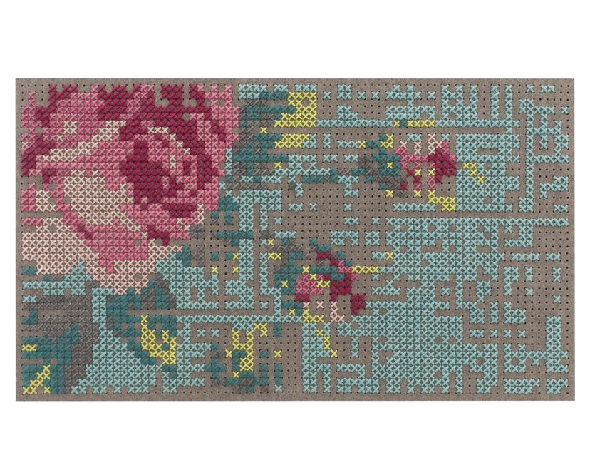 Gan - Flowers Teppich - Color - 80 x 145 cm - 0