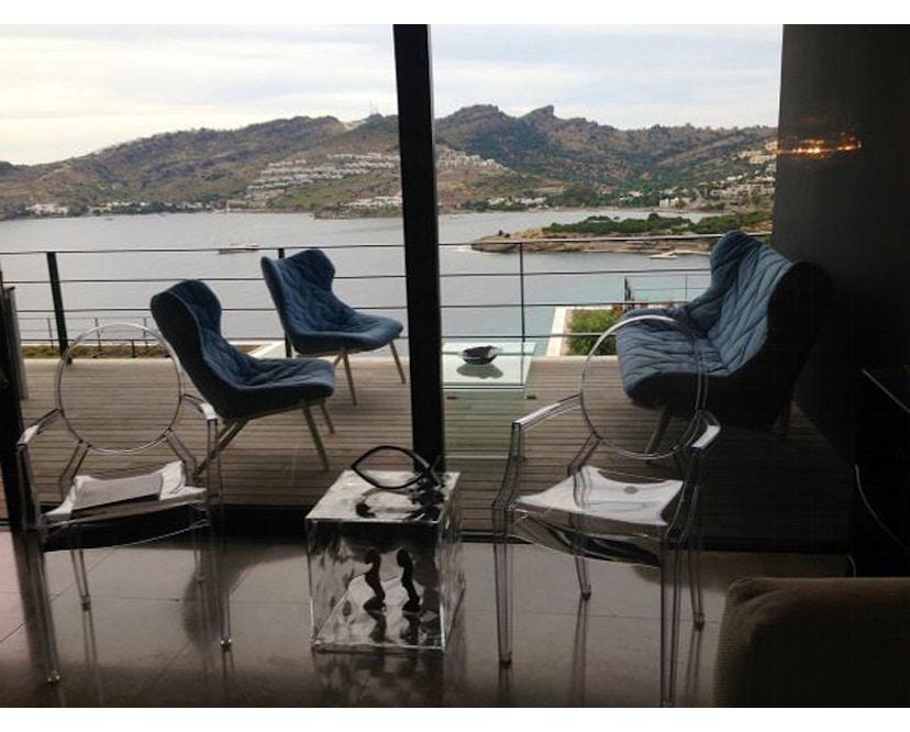 Kartell - Foliage fauteuil - Trevira groen - zwart - 3