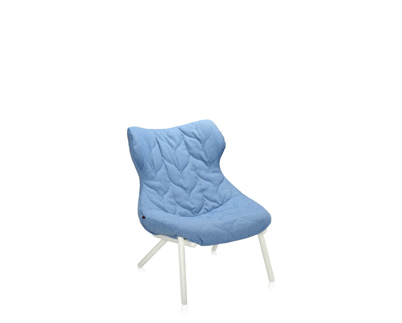 Kartell - Foliage Sessel - Gestell weiß - Stoff Trevira blau - 1