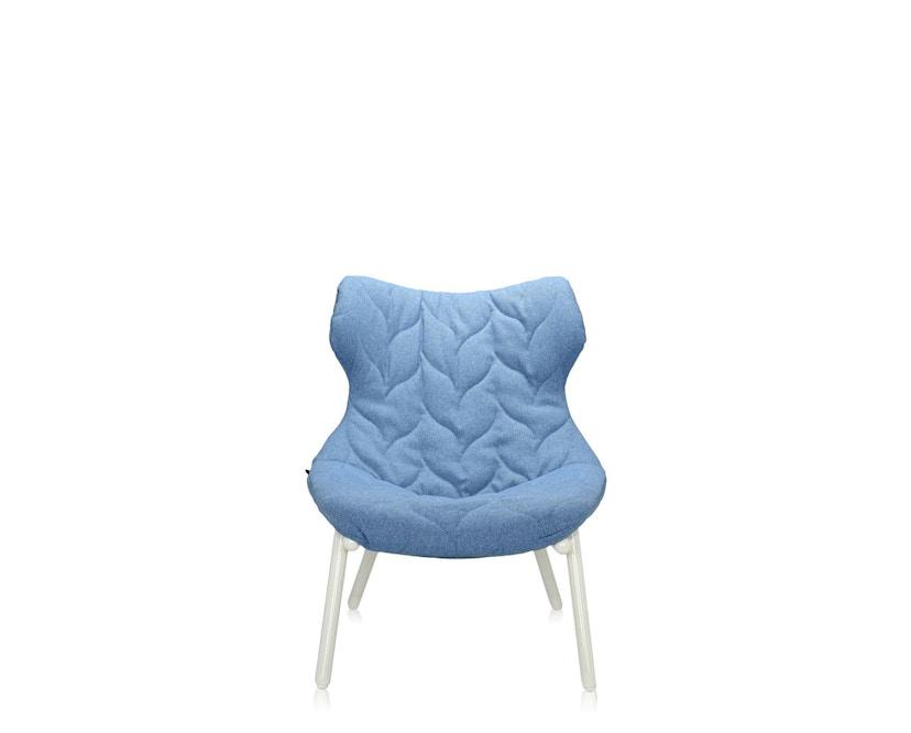 Kartell - Foliage Sessel - Gestell weiß - Stoff Trevira blau - 2