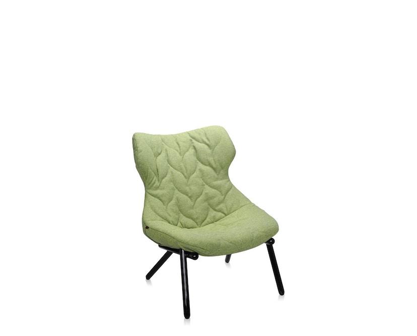 Kartell - Foliage fauteuil - Trevira groen - zwart - 1