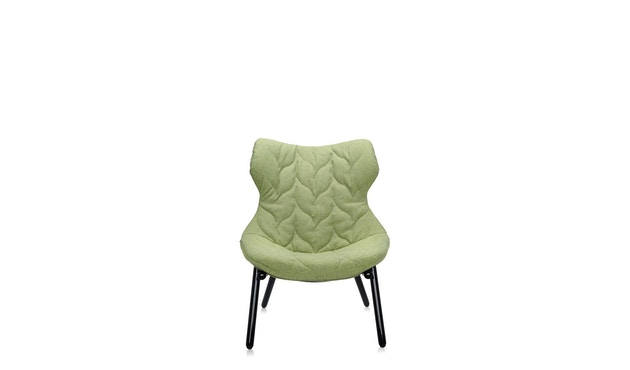 Kartell - Foliage fauteuil - Trevira groen - zwart - 2