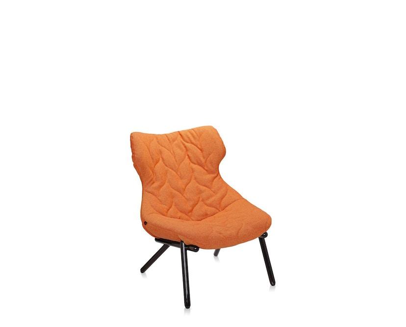Kartell - Foliage fauteuil - Trevira oranje - zwart - 1