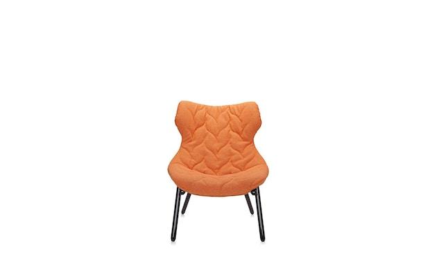Kartell - Foliage fauteuil - Trevira oranje - zwart - 2