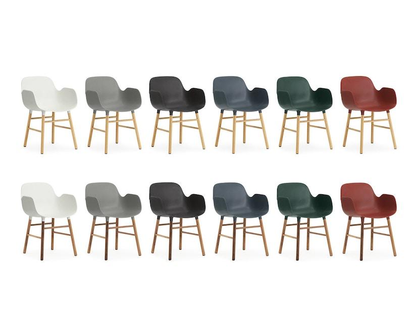 Normann Copenhagen - Form Armlehnstuhl mit Holzgestell - weiß - Eiche - 5