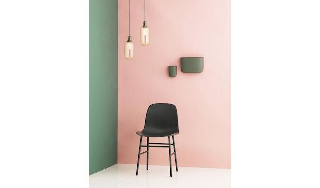 Normann Copenhagen - Form stoel met metalen frame - zwart - 8