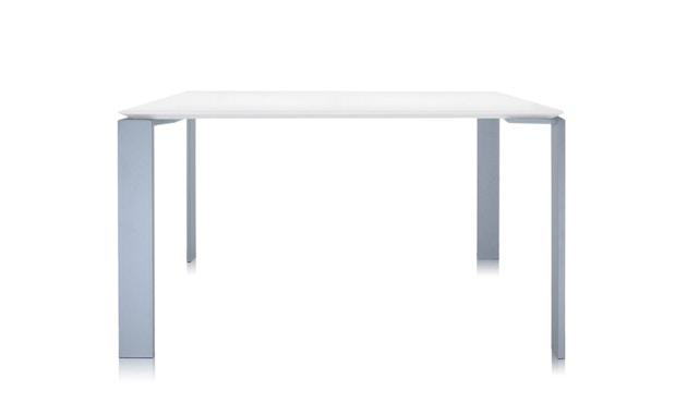 Kartell - Four Tisch M - weiß-Aluminium - 3