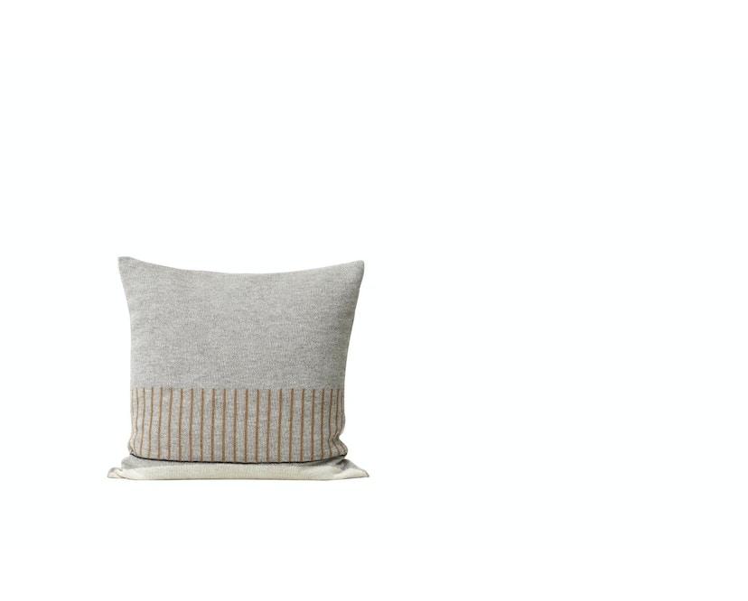 Aymara Kissen - gemustert Grau - 52 x 52 cm