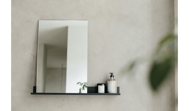 MS-1 Spiegel - schwarz pulverbeschichtet - Breite 70 cm