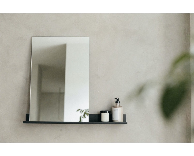 MS-1 spiegel - zwart gepoedercoat - 70 cm breed