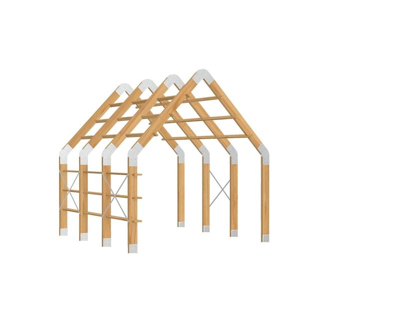 Weltevree - Framehouse mit 4 Bögen - ohne Boden - ohne Dach - 1