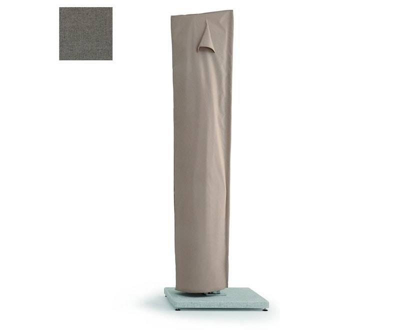 Weishäupl - Schutzhülle für Freiarmschirm - Rips steingrau - Schirmmodell Ø 350 cm und 300 x 300 cm - 0