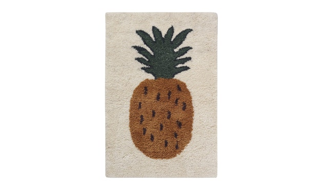 ferm LIVING - Fruiticana vloerkleed - Ananas - klein - 1