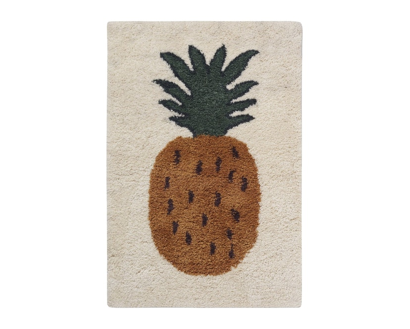 ferm LIVING - Fruiticana Teppich - groß - Ananas -  - 1