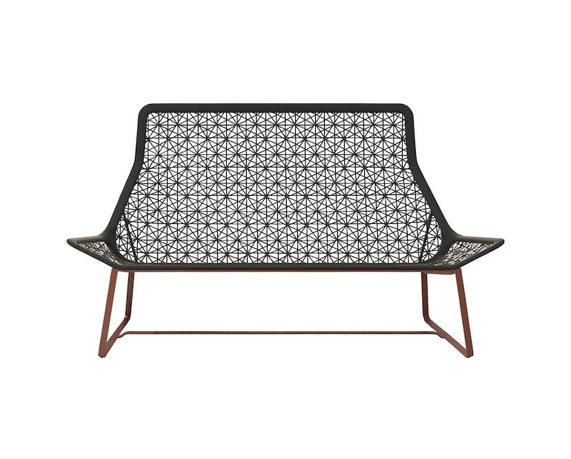 Kettal - Maia 2-Sitzer Sofa - mangangrau/ kastanienbraun - 1