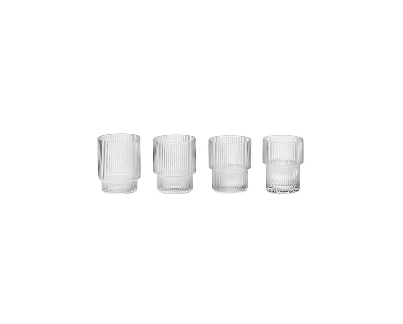 ferm LIVING - Ripple Gläser (4er-Set) - transparent - 1