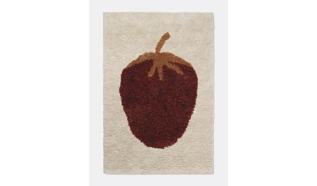 ferm LIVING - Fruiticana Teppich - klein - Edbeere -  - 1