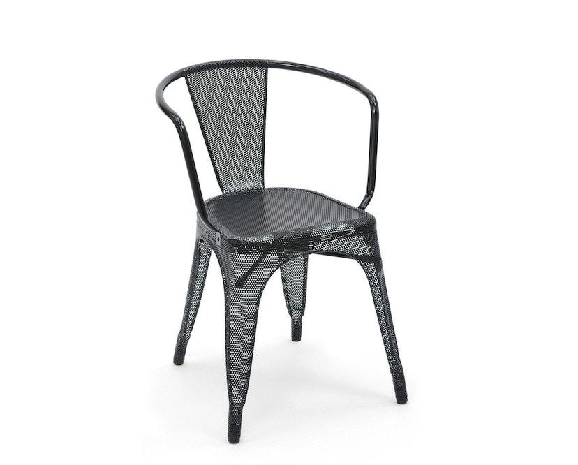 Tolix - A56 Armlehnstuhl Perforiert - outdoor - schwarz - 1