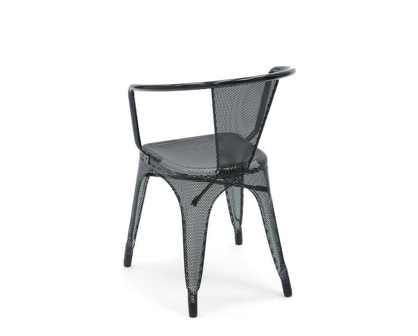 Tolix - A56 Armlehnstuhl Perforiert - outdoor - schwarz - 2