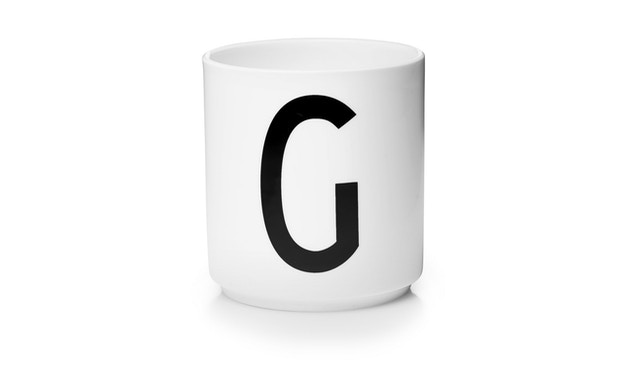 DESIGN LETTERS - Personal Porzellanbecher - weiß - G - 1
