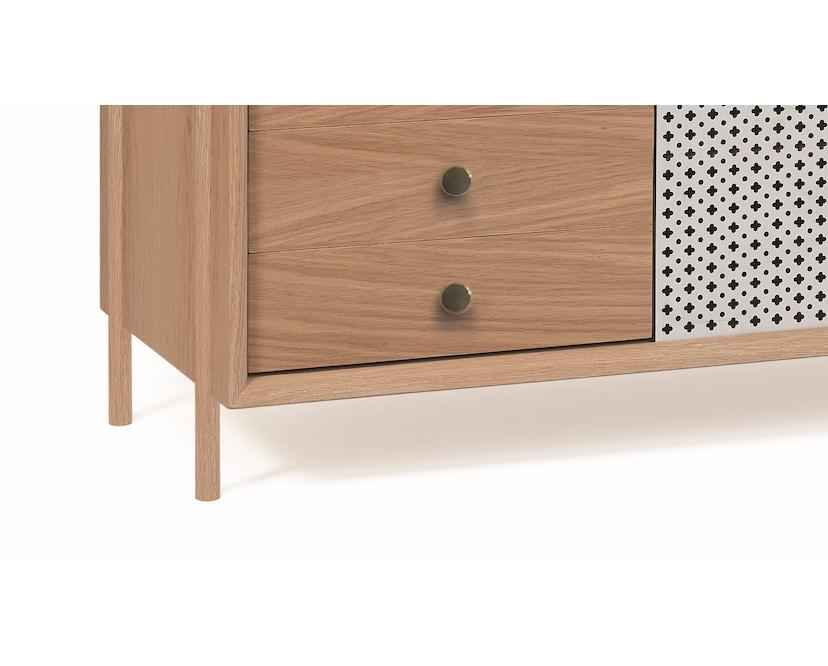 Harto - Gabin Sideboard mit Schubladen - Eiche - lichtgrau - 5